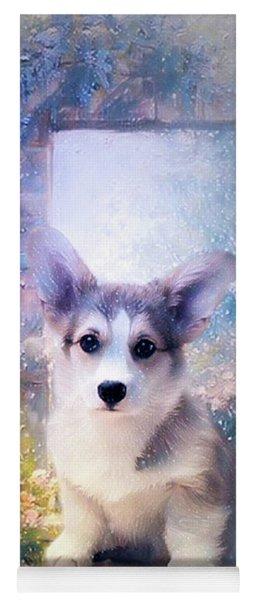Adorable Corgi Puppy Yoga Mat