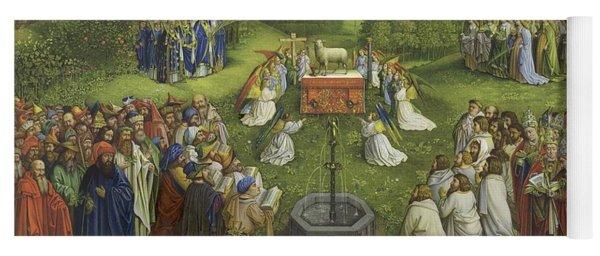Adoration Of The Mystic Lamb Yoga Mat