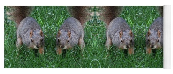 Advancing Army Of Squirrels Yoga Mat