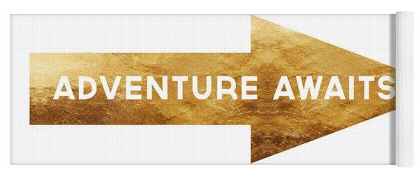 Adventure Awaits- Art By Linda Woods Yoga Mat