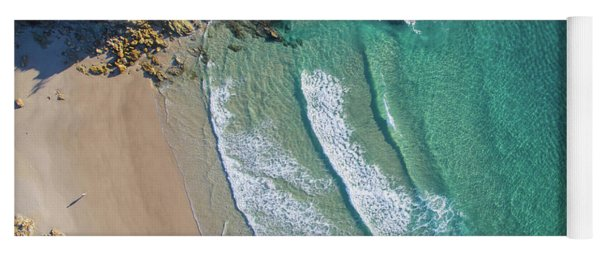 Aerial Shot Of Honeymoon Bay On Moreton Island Yoga Mat