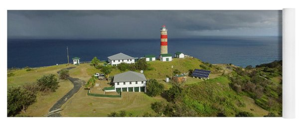 Aerial View Of Cape Moreton Lighthouse Precinct Yoga Mat