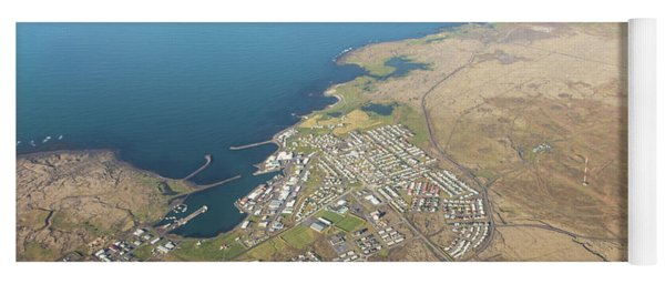 Aerial View Of Iceland South Coast  Yoga Mat