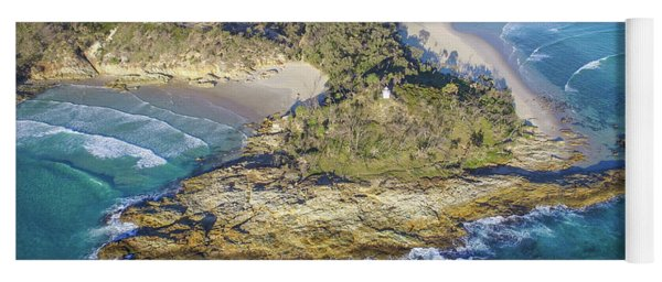 Aerial View Of North Point, Moreton Island Yoga Mat