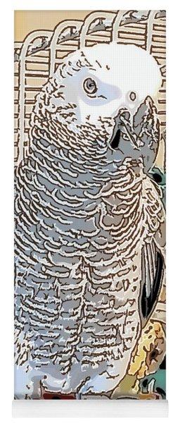African Grey Parrot In Pencil Yoga Mat