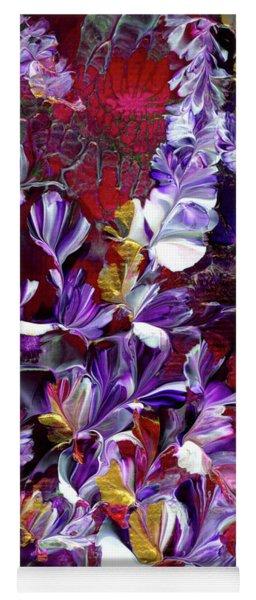 African Violet Awake #4 Yoga Mat
