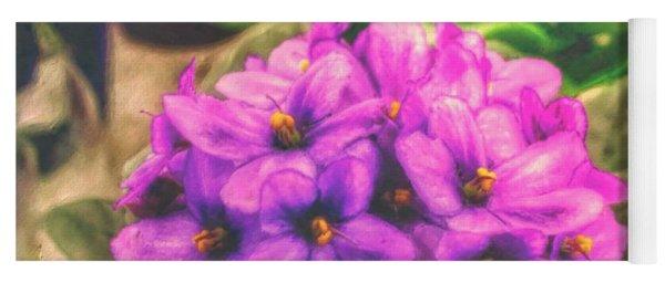 African Violets  Yoga Mat