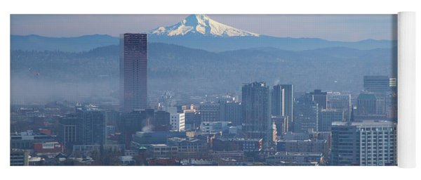 After The Fog Clears In Downtown Portland Yoga Mat