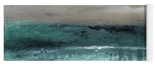 After The Storm 2- Abstract Beach Landscape By Linda Woods Yoga Mat