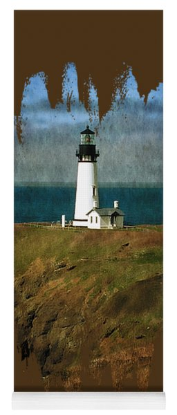 Afternoon At The Yaquina Head Lighthouse Yoga Mat