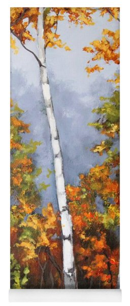 Afternoon Birches Yoga Mat