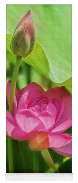 Afternoon Sun On Lotus Yoga Mat