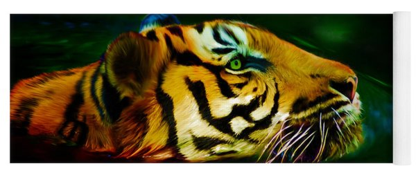 Afternoon Swim - Tiger Yoga Mat