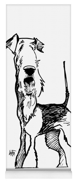 Airedale Terrier Gesture Sketch Yoga Mat