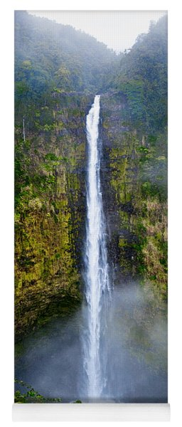 Yoga Mat featuring the photograph Akaka Falls by Christopher Holmes