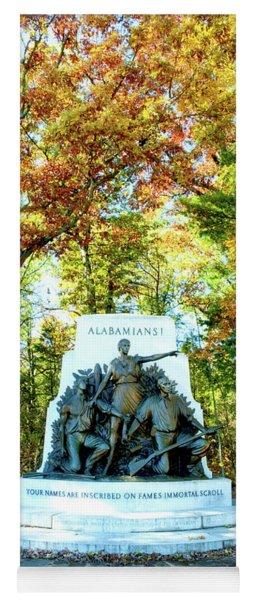 Alabama Monument At Gettysburg Yoga Mat