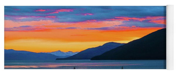 Alaska Fishermans Sunset Yoga Mat