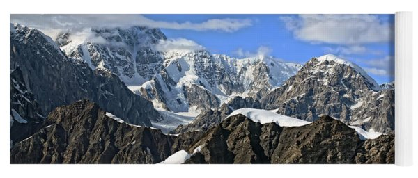 Alaska Mountain Range Yoga Mat