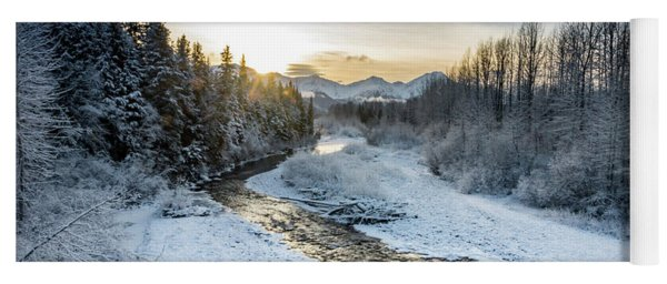Alaska Sunset Yoga Mat