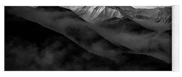 Alaskan Peak In The Shadows Yoga Mat