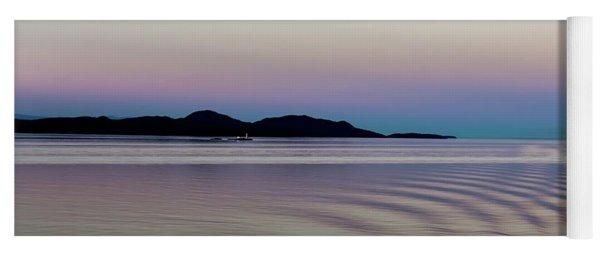 Alaskan Sunset At Sea Yoga Mat