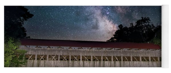 Albany Covered Bridge Under The Milky Way Yoga Mat