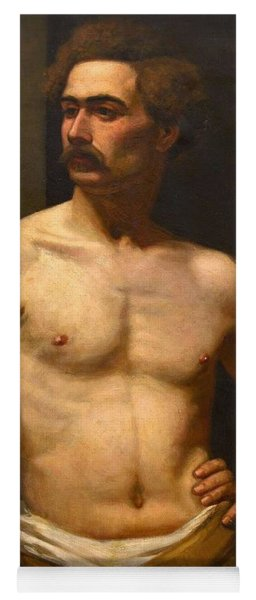 Yoga Mat featuring the painting Albert Edelfelt Male Model by Artistic Panda
