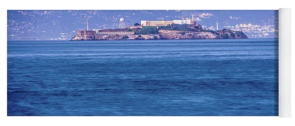 Yoga Mat featuring the photograph Alcatraz Historic Famous Jail In San Francisco Bay California by Alex Grichenko