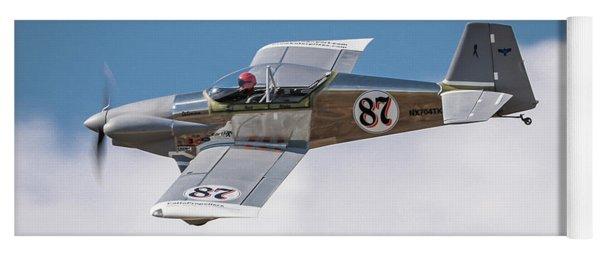 Yoga Mat featuring the photograph Alex Alverez Friday Morning At Reno Air Races 5x7 Aspect by John King