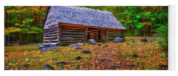 Alex Cole Cabin At Jim Bales Place, Roaring Fork Motor Trail In The Smoky Mountains Tennessee Yoga Mat