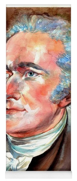 Alexander Hamilton Watercolor Yoga Mat