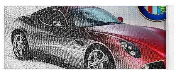 Alfa Romeo 8c Competizione  Yoga Mat