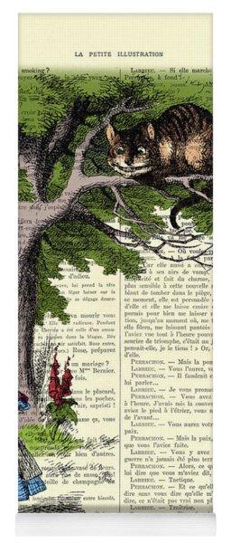 Alice In Wonderland And Cheshire Cat Yoga Mat