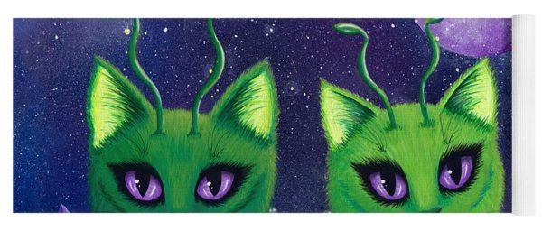 Alien Cats Yoga Mat