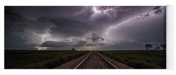 Yoga Mat featuring the photograph All Aboard  by Aaron J Groen