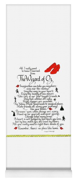 All I Need To Know I Learned From The Wizard Of Oz Yoga Mat