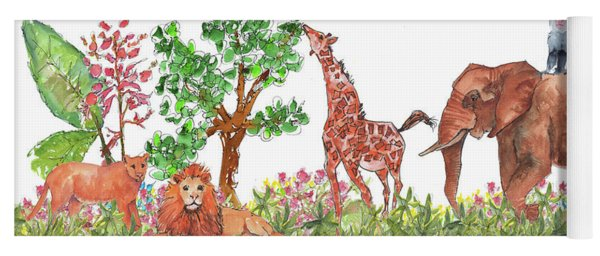 All Is Well In The Jungle Yoga Mat