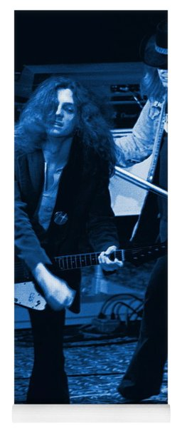 Allen Collins And Ronnie Van Zant Same Old Winterland Blues Yoga Mat