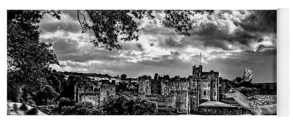 Alnwick Castle And Fallow Deer Yoga Mat