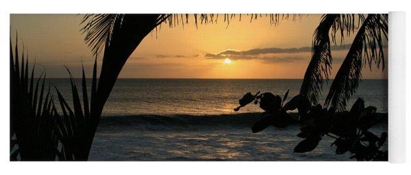 Aloha Aina The Beloved Land - Sunset Kamaole Beach Kihei Maui Hawaii Yoga Mat