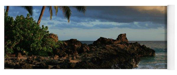 Aloha Naau Sunset Paako Beach Honuaula Makena Maui Hawaii Yoga Mat