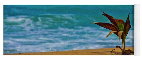Alone On The Beach Yoga Mat