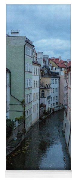 Yoga Mat featuring the photograph Along The Prague Canals by Matthew Wolf