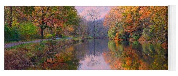 Along These Autumn Days Yoga Mat
