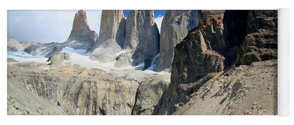 Alpine Lake And Torres Del Paine In Patagonia Yoga Mat