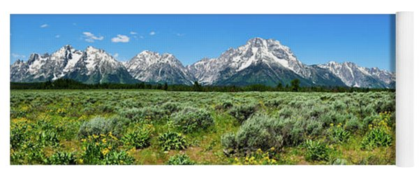 Alpine Meadow Teton Panorama Yoga Mat