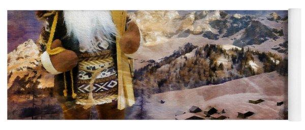 Alpine Santa Card 2015 Yoga Mat