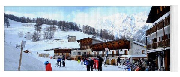 Alps Ski Piste Yoga Mat