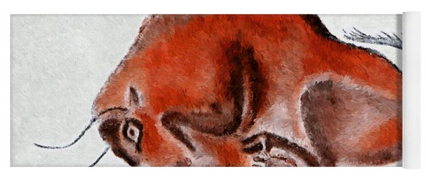 Altamira Prehistoric Bison At Rest Yoga Mat