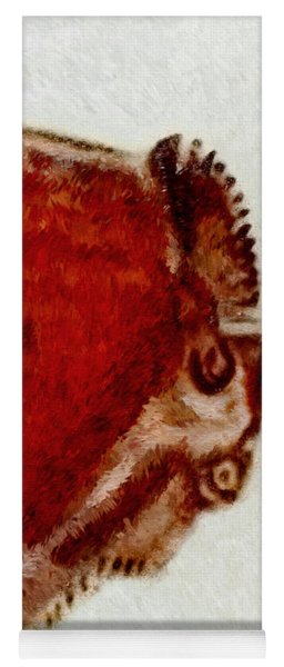 Altamira Prehistoric Bison Detail Yoga Mat